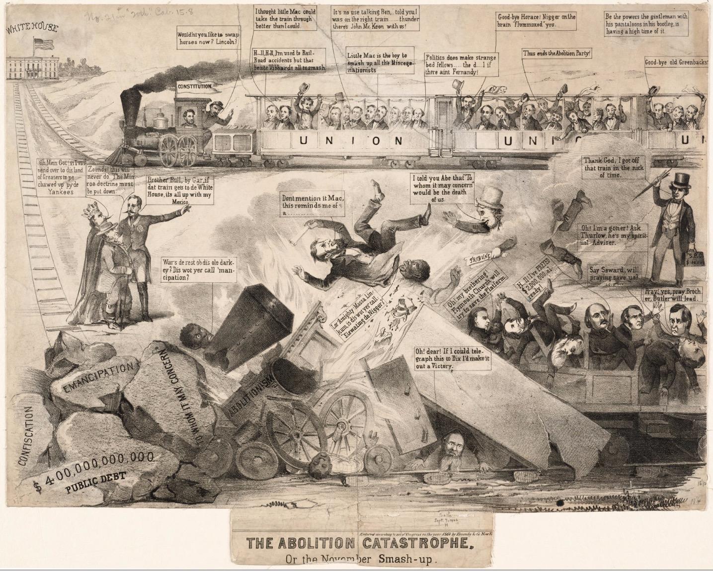 A Pro Mcclellan Political Cartoon For The 1864 Presidential Election