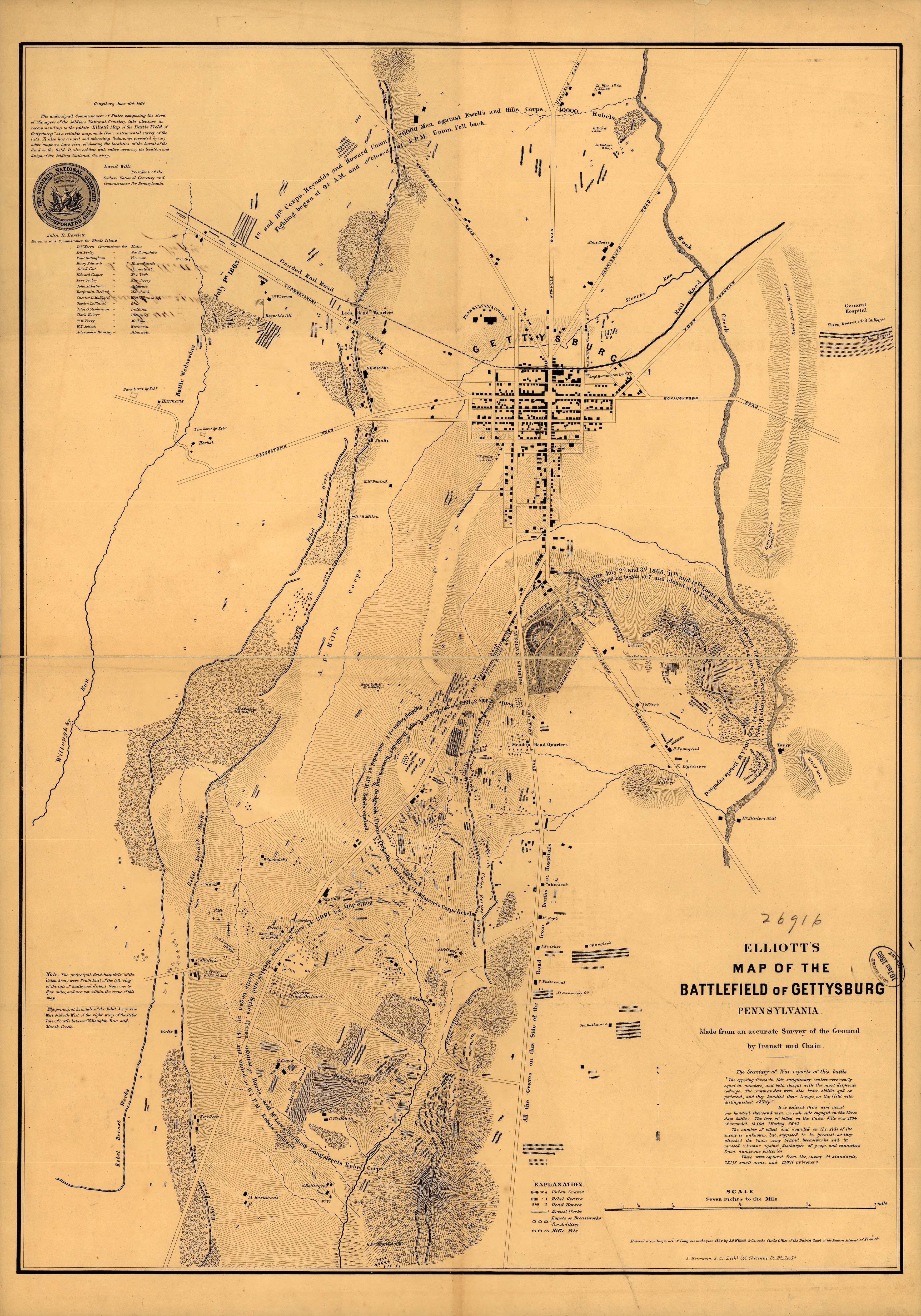 A map of military action, graves, and local landmarks during ... Gettysburg Battle Map on gettysburg battlefield, gettysburg reenactment, gettysburg pa battlefield map, gettysburg chambersburg pike, american civil war, second battle of bull run, battle of shiloh, gettysburg war map, battle of antietam, gettysburg battlegrounds map, gettysburg soldiers, gettysburg map day 3, battle of chickamauga, robert e. lee, day-one gettysburg map, battle of fredericksburg, pickett's charge map, battle of chancellorsville, gettysburg pickett's charge, gettysburg on map, stonewall jackson, gettysburg pennsylvania map, first battle of bull run, bleeding kansas, george b. mcclellan, gettysburg college map, gettysburg artillery map, george meade, gettysburg before and after, united confederate states of america map, civil wars majors battles map, battle of vicksburg, gettysburg first day, gettysburg map day 2, emancipation proclamation, battle of fort sumter, confederate states of america, gettysburg day 2 summary, william tecumseh sherman,