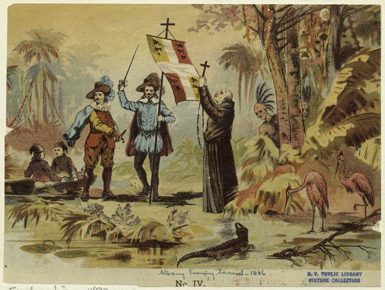 Early European Explorers Quotes Quotesgram: An 1866 Illustration Of Early Spanish Colonization In The