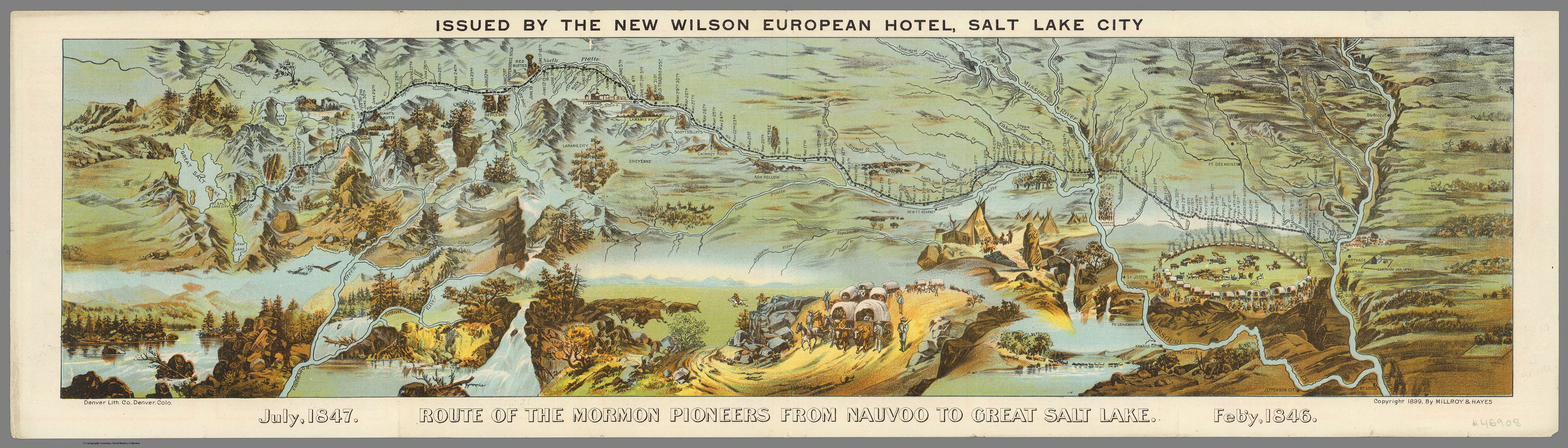 An 1897 map of the route of the Mormon pioneers from Nauvoo ... Salt Lake City Map Of on salt lake city heber stohl, salt lake city beaches, salt lake city skyline, salt lake city airport, salt lake city mountains, salt lake city inversion, salt lake city climate, salt lake city utah attractions, salt lake city map, salt lake city hotel luggage tag,