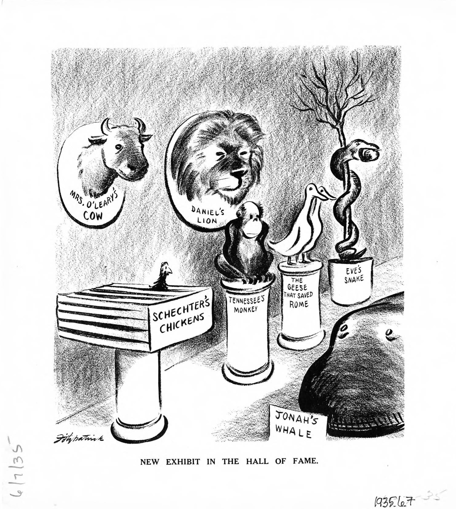 A 1935 Political Cartoon New Exhibit In The Hall Of Fame Dpla