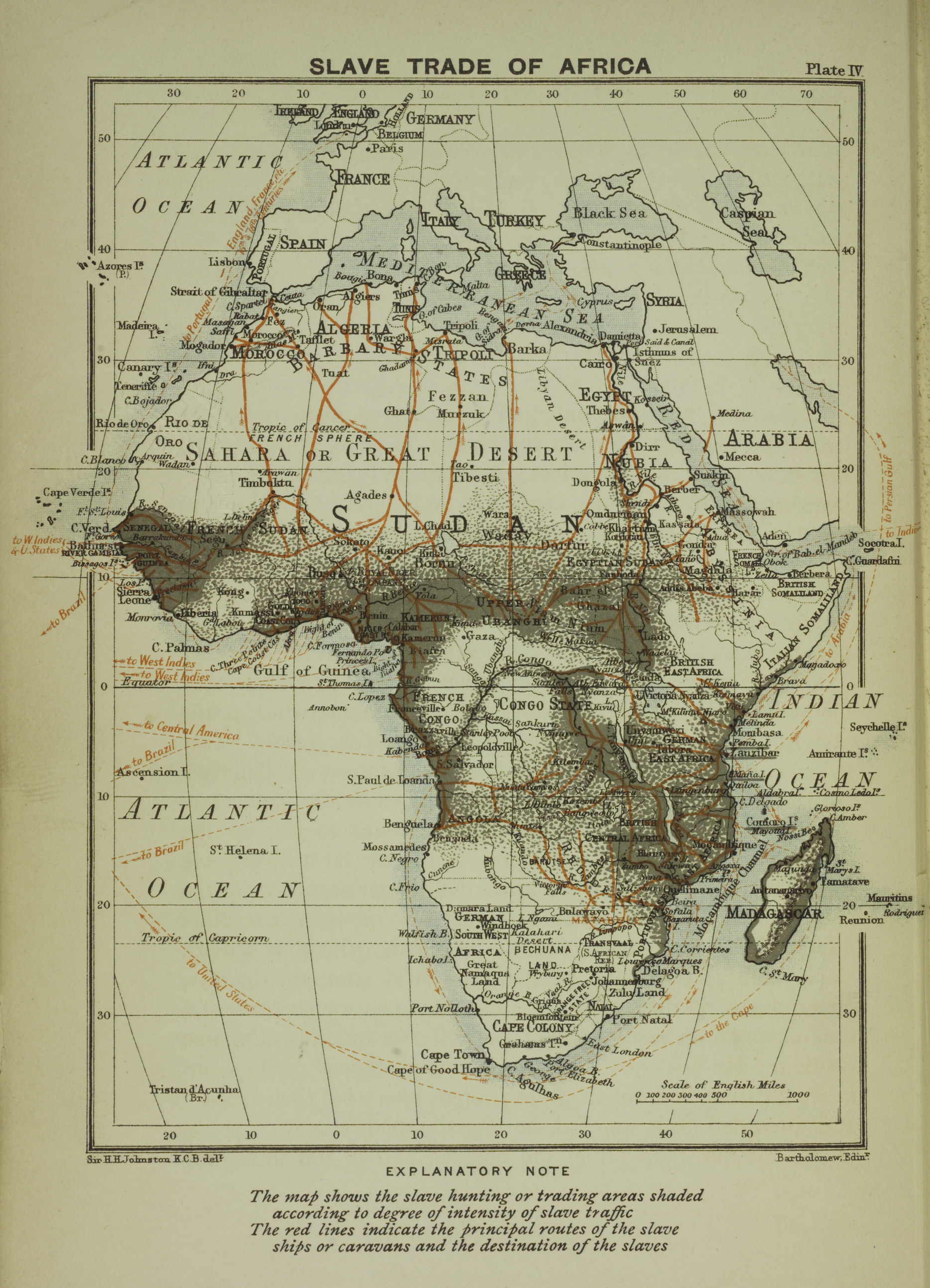 Map Of Africa During Slave Trade.A Map Of The Slave Trade In Africa That Shows The Regions Of Most
