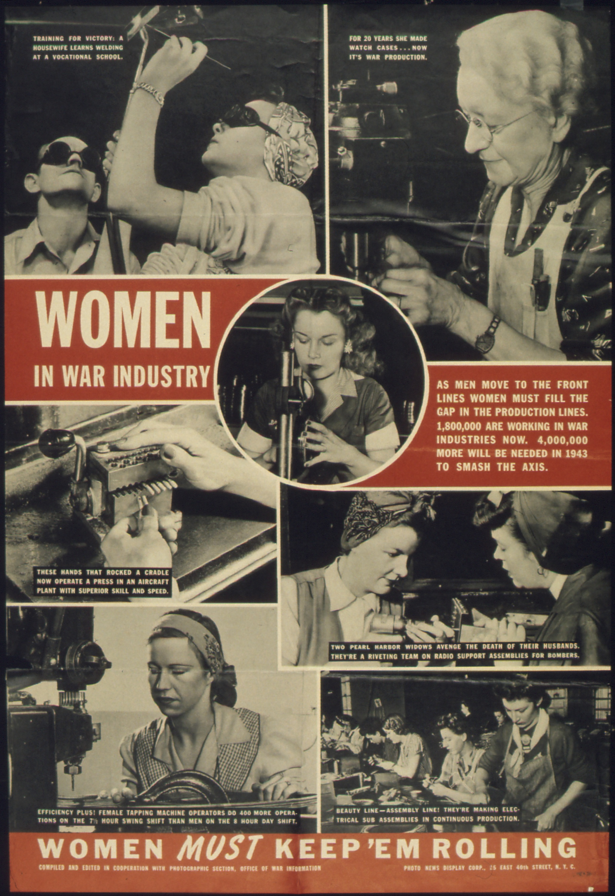 an analysis of the role of women during the world war two American women played important roles during world war ii, both at home and   served as radio operators, analyzed photographs, flew military aircraft across.